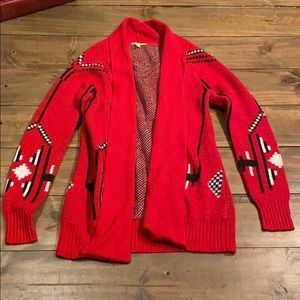 ⭐️Patterned Red Cardigan
